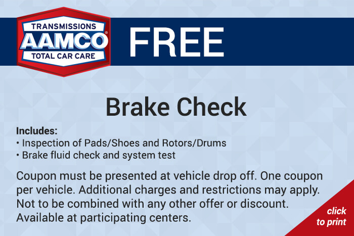 Free brake check coupon