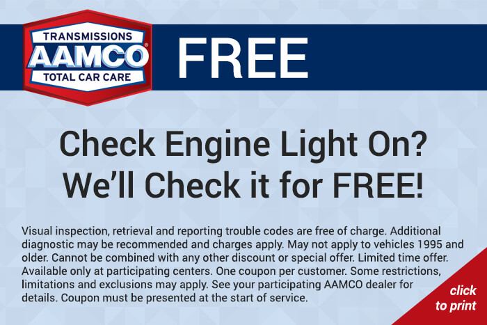 Free check engine light service coupon